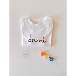 Camiseta bebé Caligrafía Manga Larga