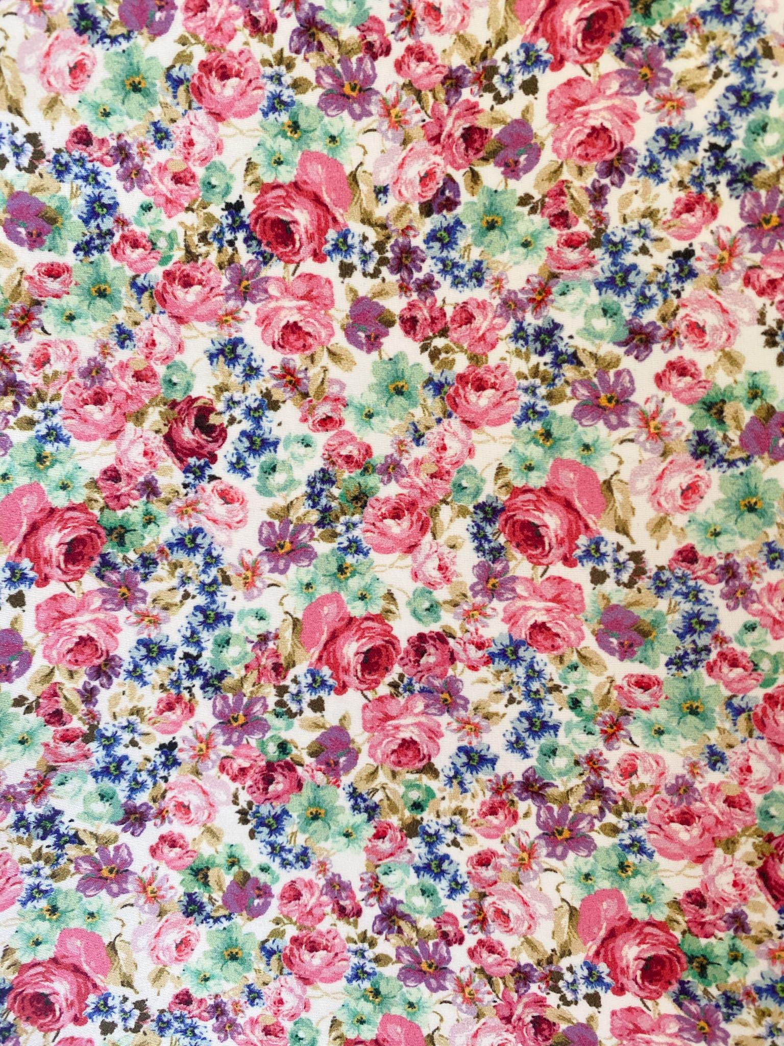 332 Flores rosas y moradas