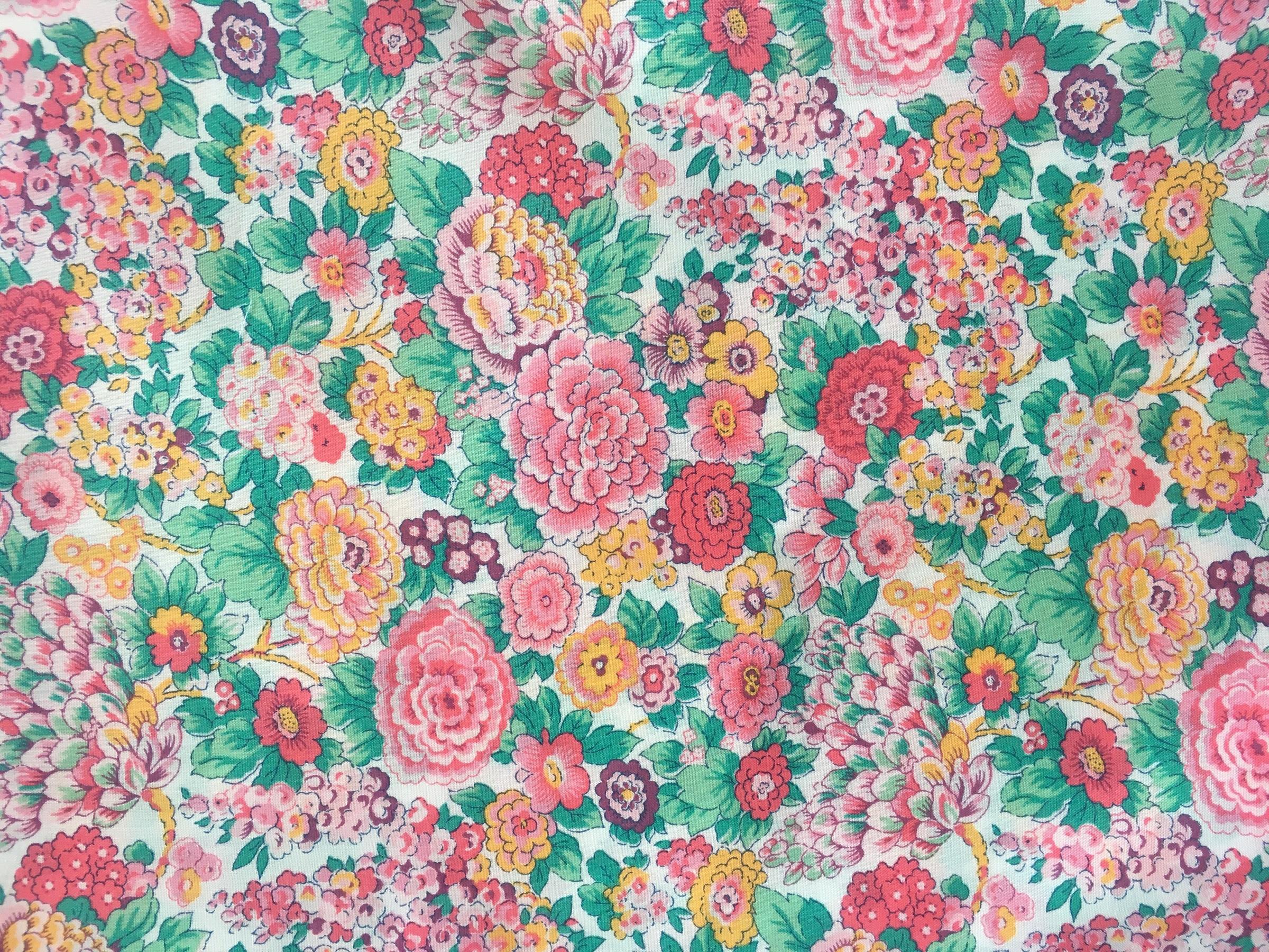 307 flores liberty rosa y verde